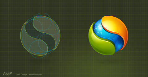 satellite browser logo design by hileef