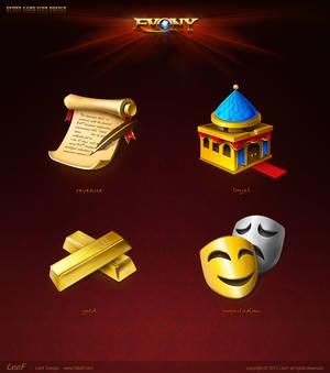 the evony Games icon design