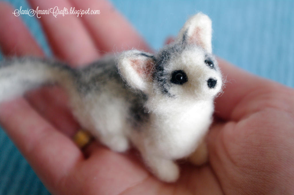 Needle felted Canadian Marble fox by SaniAmaniCrafts on ...