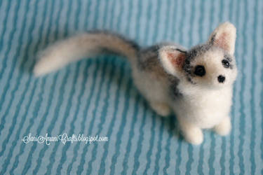 Needle felted Canadian Marble fox