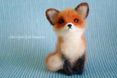 Needle felted red fox by SaniAmaniCrafts