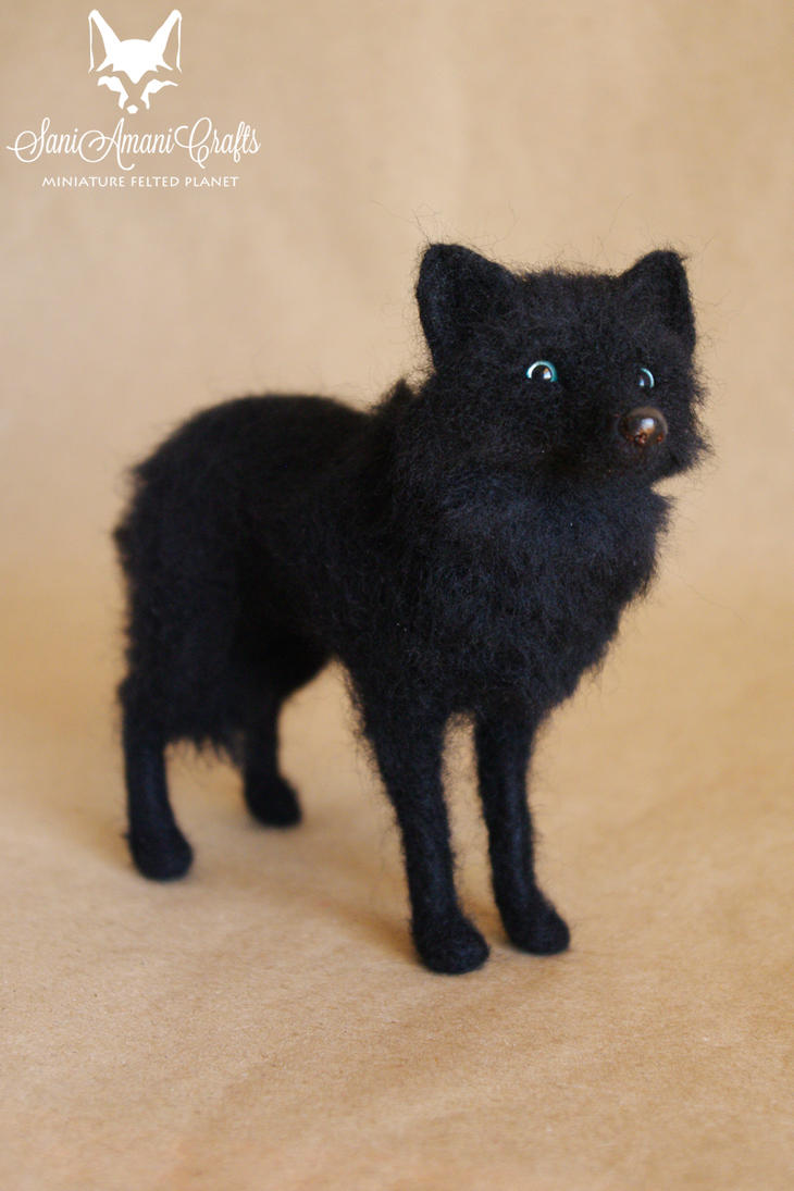 black wolf by SaniAmaniCrafts