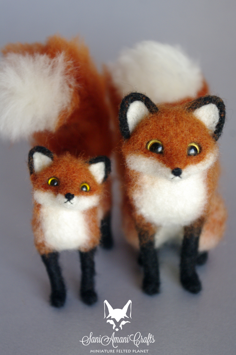 red foxes by SaniAmaniCrafts
