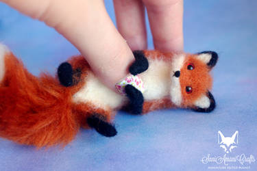 Tiny red fox - soft sculpture by SaniAmaniCrafts
