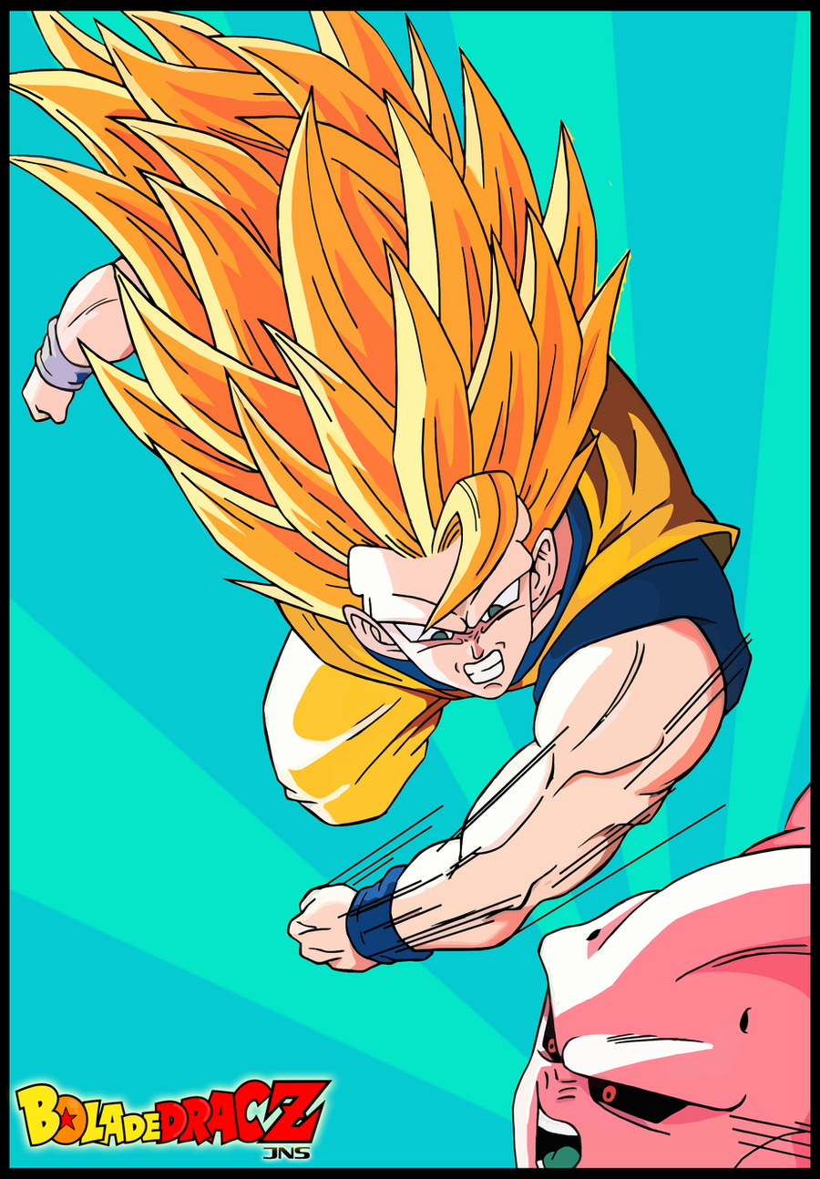 Goku VS Bu 2 by Sauron88