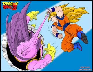 Majin Bu VS Goku by Sauron88