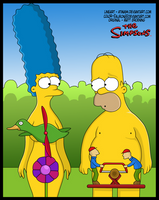 Homer y Marge by Sauron88
