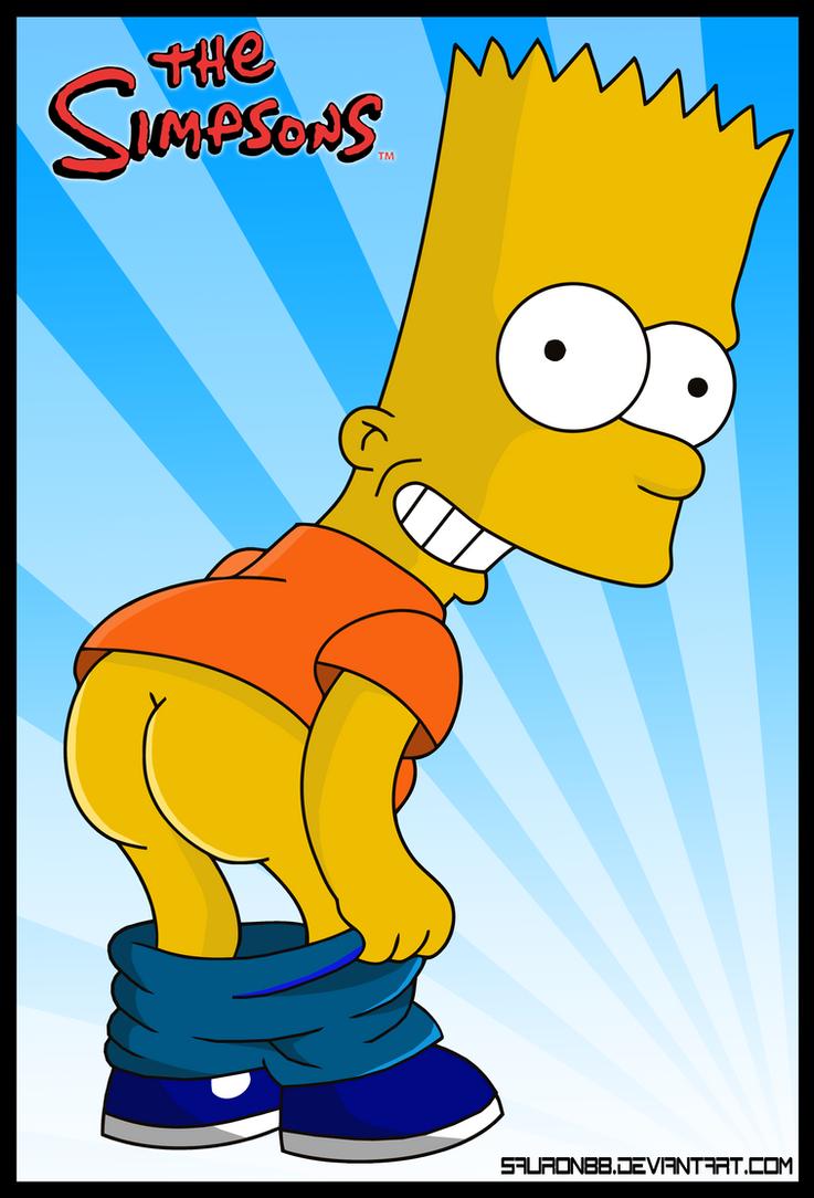Bart simpson butt naked