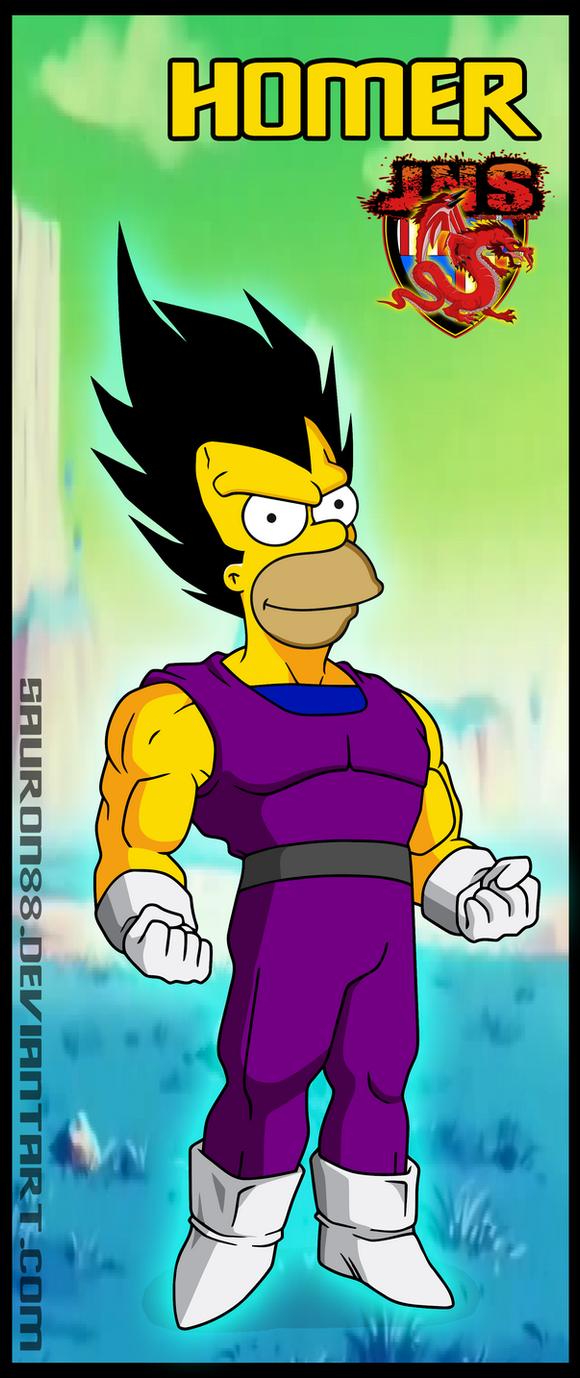 Homer Vegeta by Sauron88