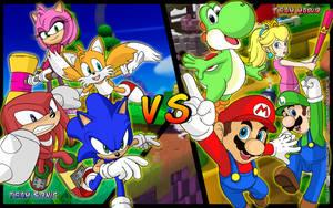 Team Sonic vs Team Mario