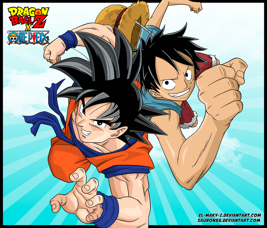 Goku And Luffy By Sauron88 On DeviantArt