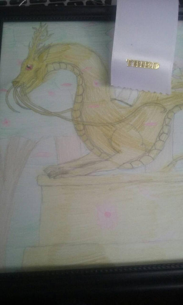 Golden Dragon (With Ribbon) by Shadowfang02
