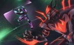 Cyber Donatello vs Shredder