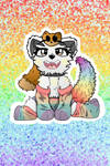 Rainbow Solo Wolf Rainbow Particles