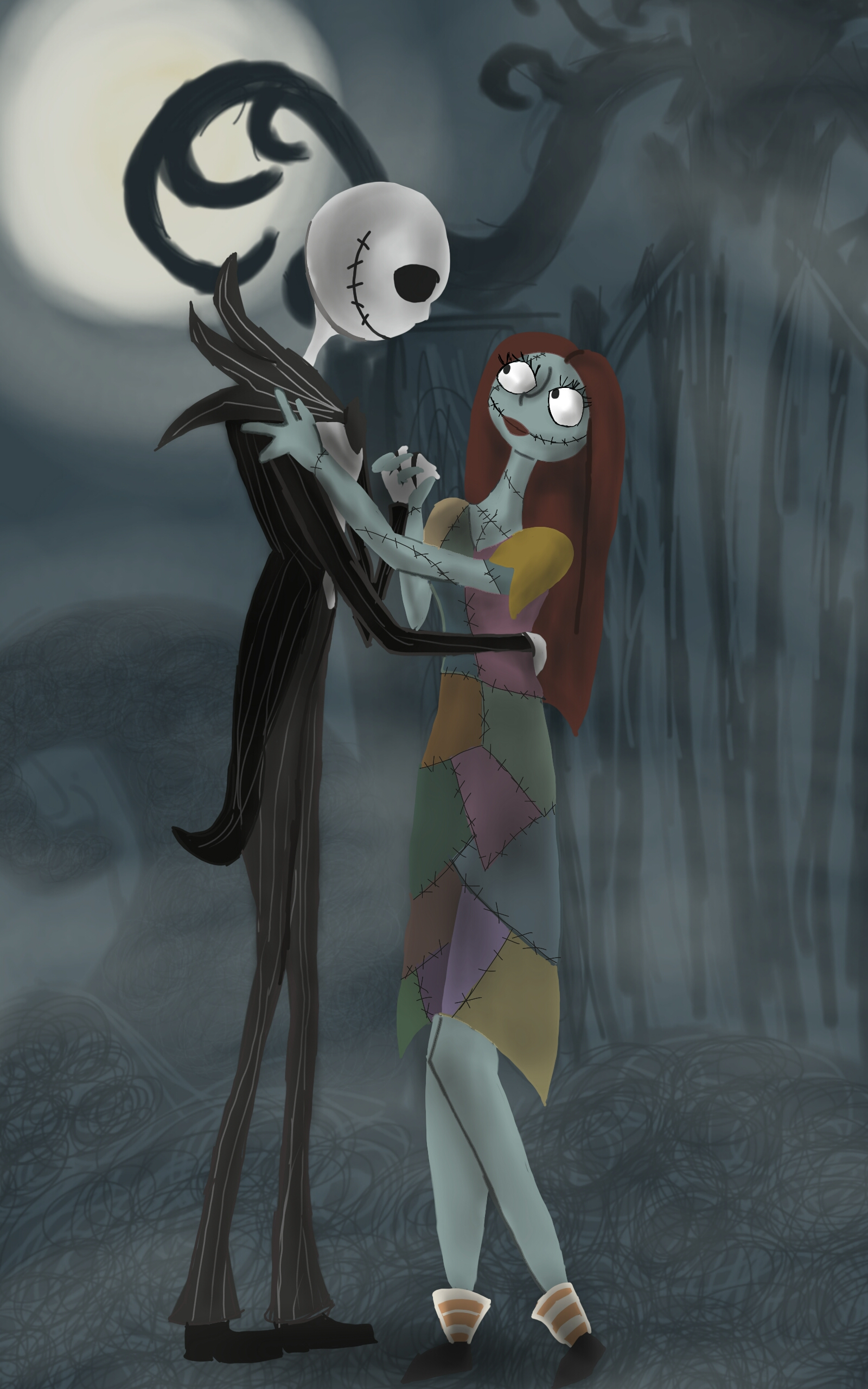 Jack and Sally by Paulycat on DeviantArt