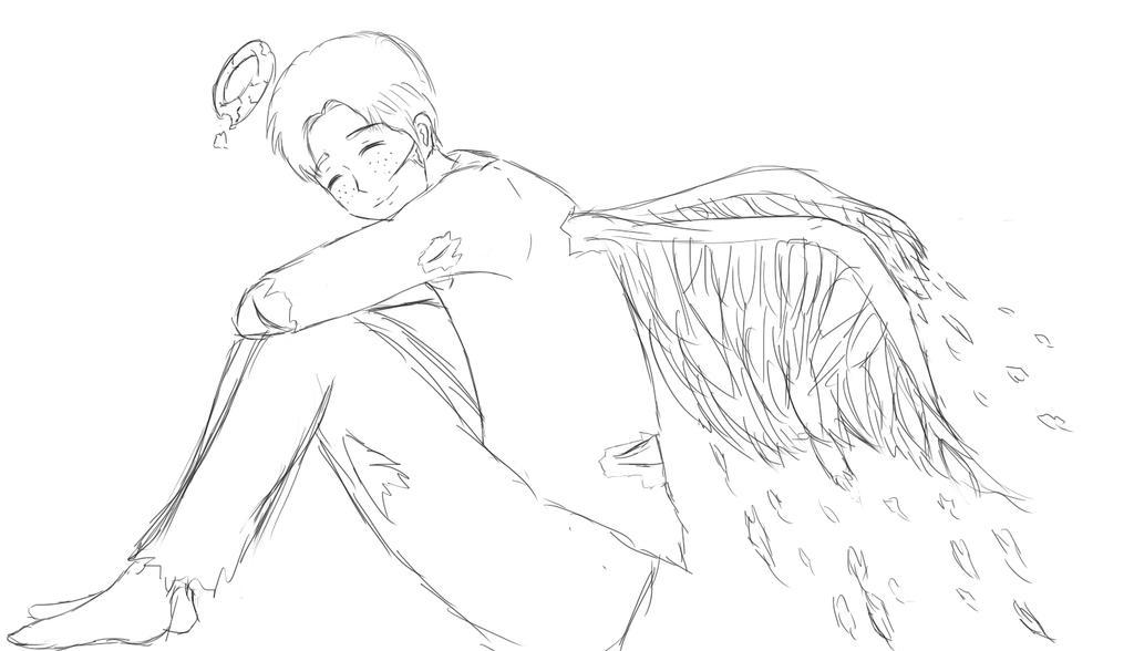 Fallen Angel Marco - Sketch by air-ees on DeviantArt