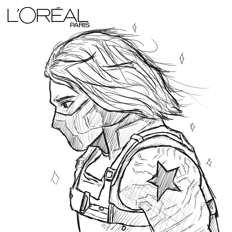 Bucky coloring pages ~ Because you're worth it, Bucky. by air-ees on DeviantArt