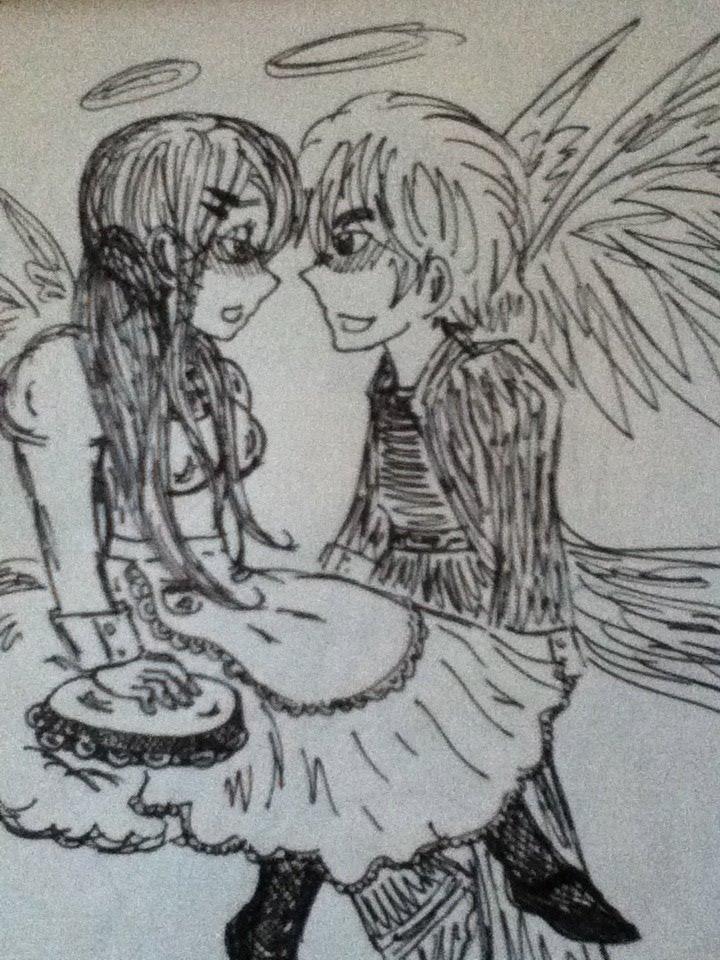 Britannia Angels Alice and Arthur Kirkland by Renzy-chan