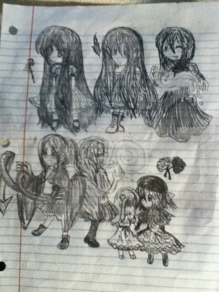Full sketch of everyone by Renzy-chan