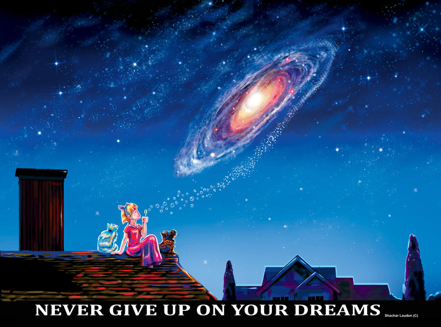 Never Give Up On Your Dreams by ShacharLaudon