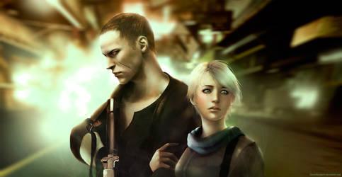 Jake Muller and Sherry Birkin (Resident Evil 6)
