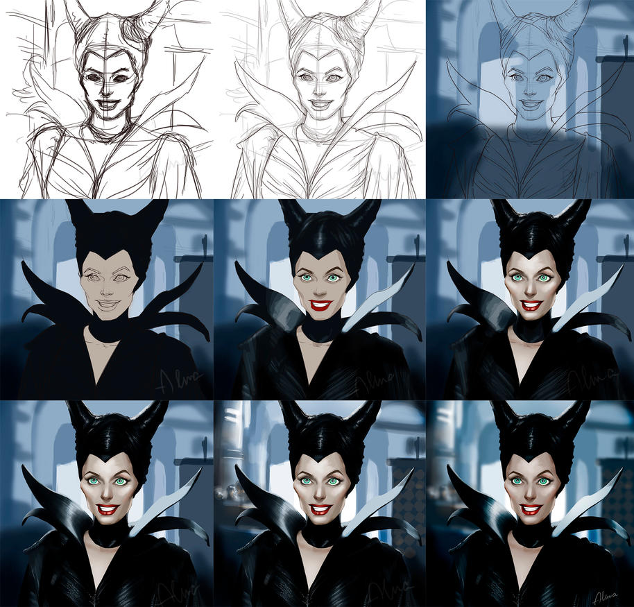 Maleficent (Step By Step) by SweeetRazzbery