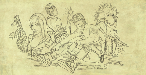 Dead Rising 3 sketch by SweeetRazzbery