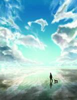 blue sky blue ground by hiyopi