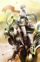Lightning and Odin by hiyopi