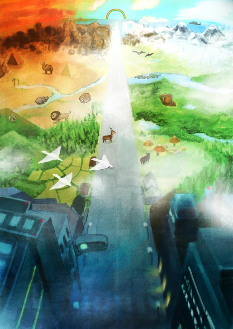 Beautiful World By Hiyopi On Deviantart