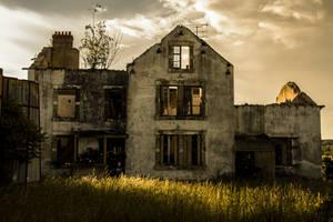 Burned farm