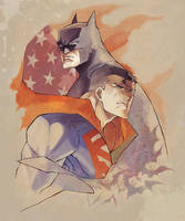 Batman and Superman by ai-eye