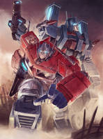 Optimus and Magnus colored by ai-eye