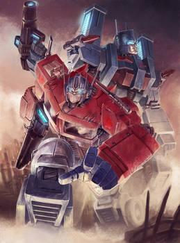 Optimus and Magnus colored