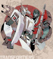Commission:Drift and Perceptor by ai-eye