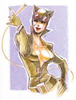 Catwoman: sketch by ai-eye