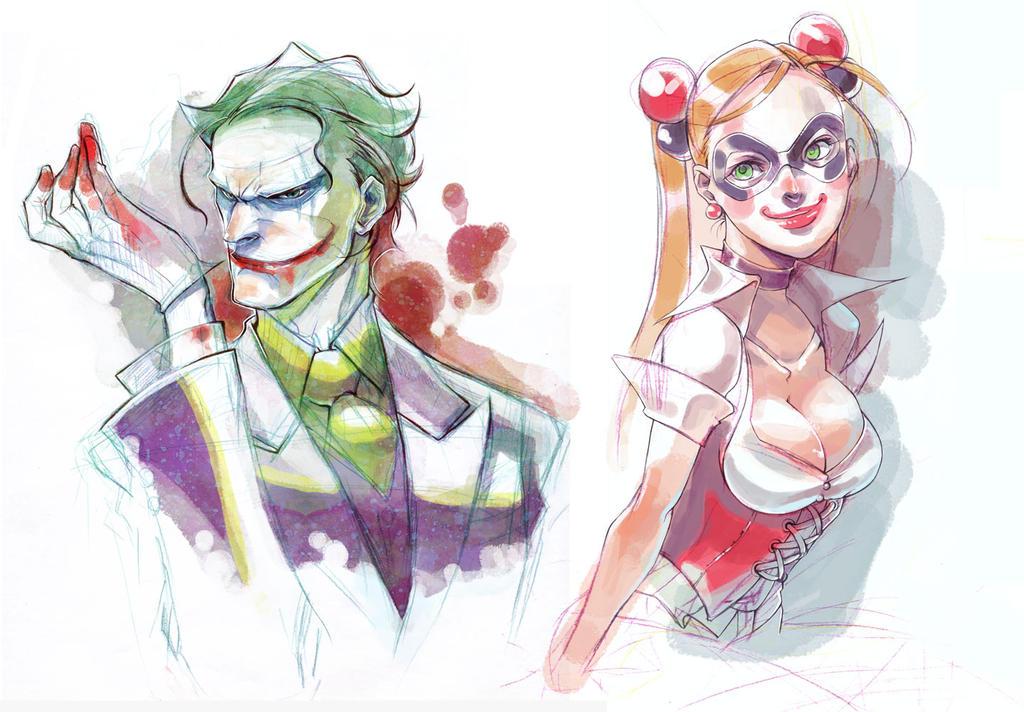 J and Harley by ai-eye