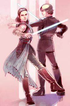 Rey and Luke.
