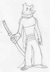 Dragon Samurai Concept Sketch