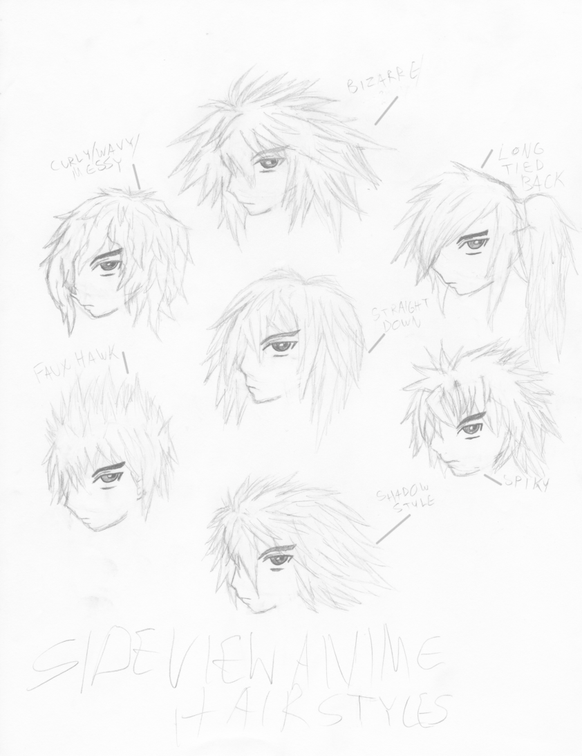 Side View Anime Hairstyles by ShadowPand3monium on DeviantArt