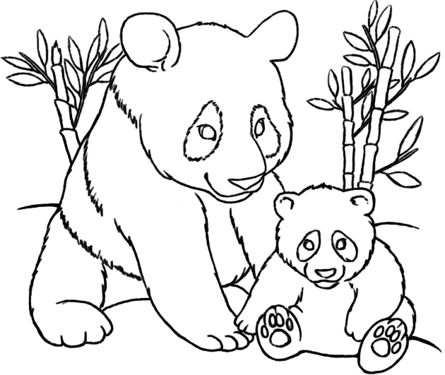 Panda coloring Page 2 by LittleTihany on DeviantArt