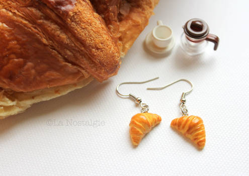 Miniature French Butter Croissant Earrings