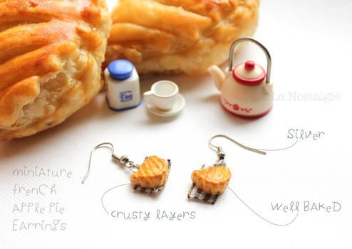 Miniature French Apple Pie Earrings