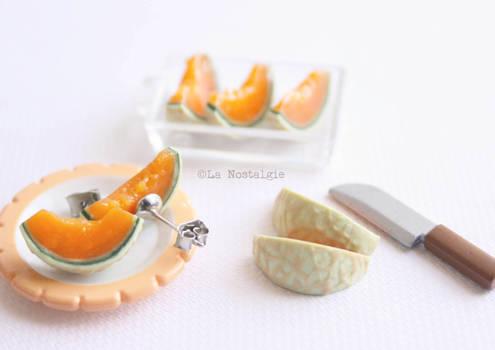 Melon fruit earrings jewelry