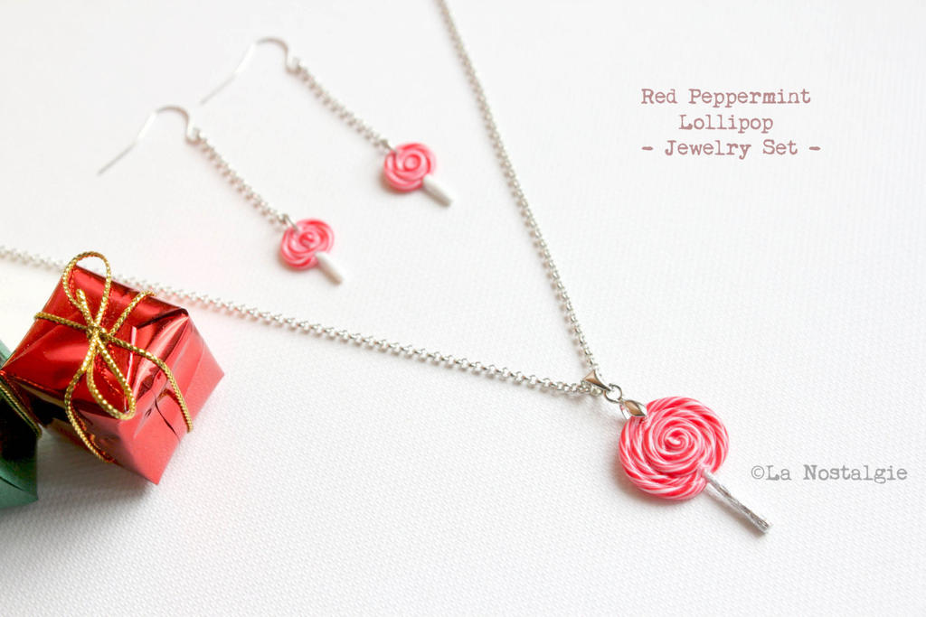 gift ideas peppermint jewelry set by
