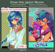 Meme -- stabbing old art by pompon-chan