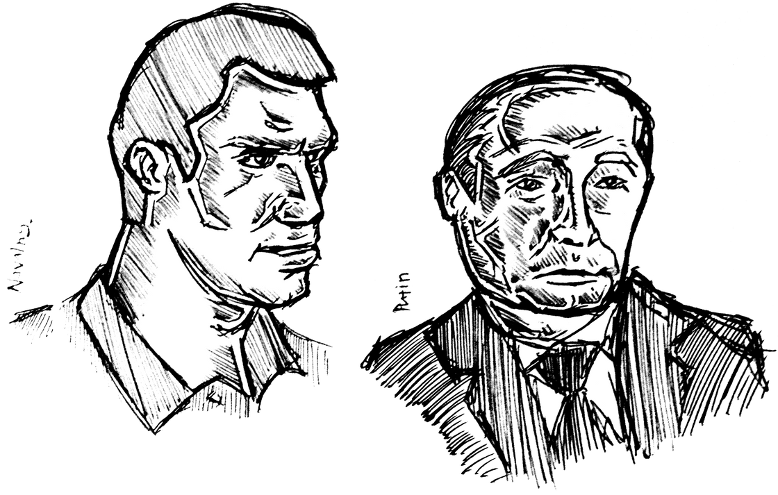 Alexey Navalny vs. Vladimir Putin by nicolaykoriagin