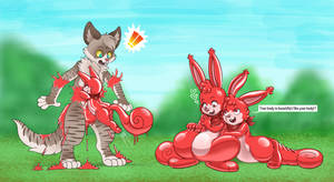 A red rubber toy squirrel tf_01
