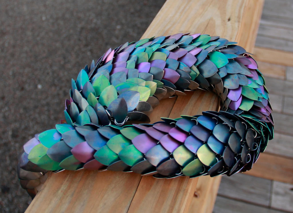 Anodized Titanium Dragon Tail By DracoLoricatus On DeviantArt