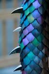 Anodized Titanium Dragon Tail Close-up